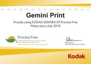 Kodak Sonora Green Leaf Certificate